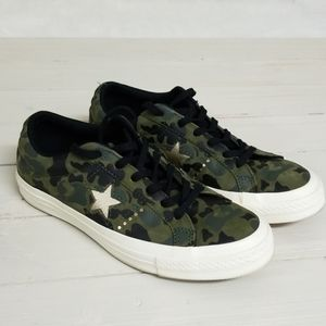 Converse one star leather camo 7.5